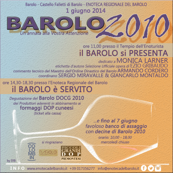 Presentazione Ufficiale Barolo 2010: PROGRAMMA Official Presentation Barolo 2010: PROGRAM