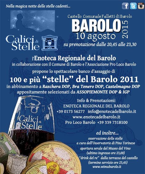CALICI DI STELLE 2015CALICI DI STELLE 2015 for our BaroLOvers who speak english