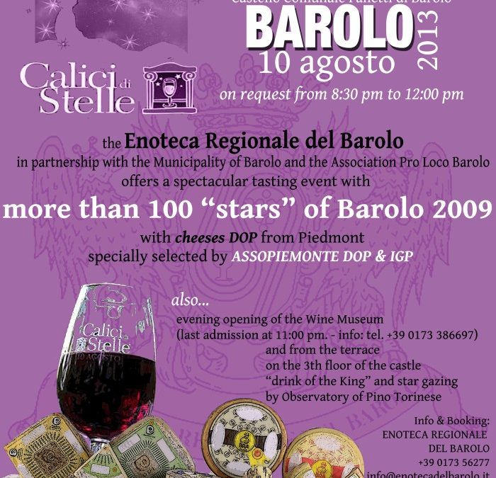 """Calici di Stelle 2013"": english version for our Barololovers"